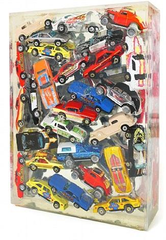 car accumulation (matchbox cars) by arman