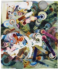 smoke painting #30 by rosemarie fiore