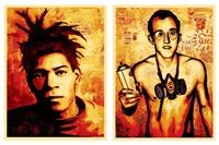 jean-michel basquiat (+ keith haring; 2 works) by shepard fairey