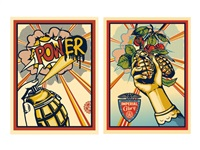 pow(er) (+ imperial glory; 2 works) by shepard fairey