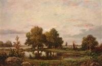 campagne pres de fountainebleau by théodore rousseau