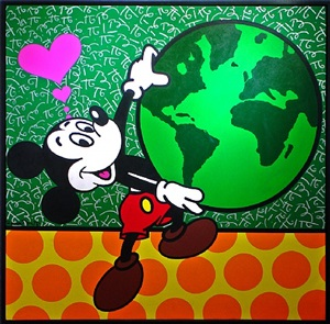 mickey's world by romero britto