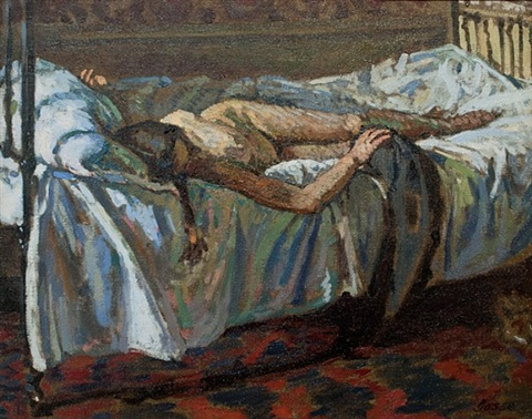 reclining nude by laura sylvia gosse