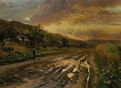 an evening after the rain by arthur parton