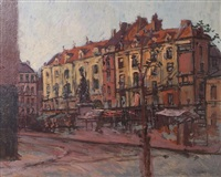 la place nationale with le grand duquesne by walter richard sickert
