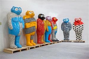 tanuki figures by jun kaneko