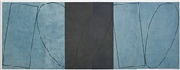varied figure zone (4-part) by robert mangold