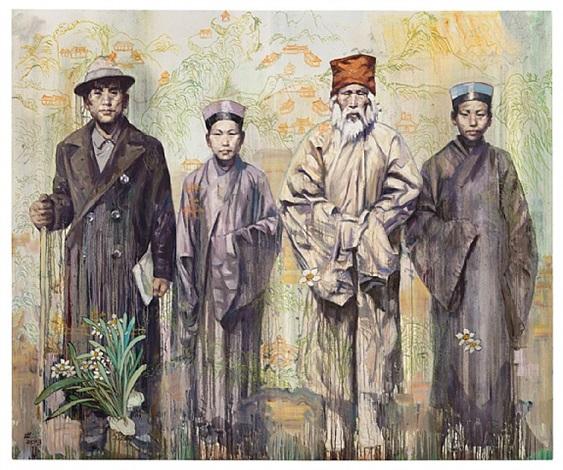 grandfather liu and his qianshan friends by hung liu