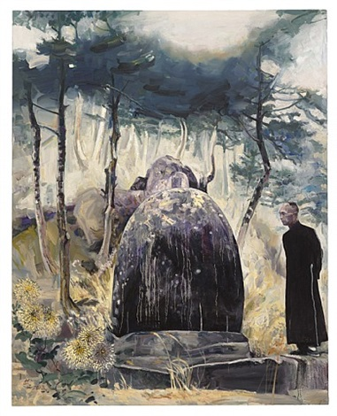 grandfather's rock by hung liu