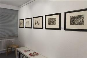 pablo picasso: originalgraphik und illustrierte bücher, ausstellungsansicht galerie fetzer 2013