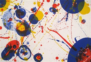 pasadena box series, an 8-set, plate 7 by sam francis