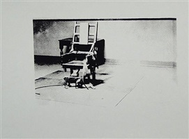 electric chair (bw) by andy warhol