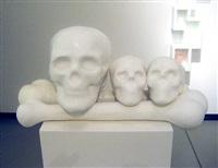 Untitled (skull with 2 small skulls on 2..., 2008