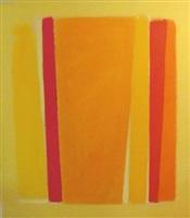 pale yellow field i by john opper