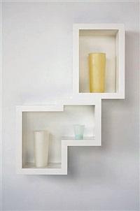 Untitled (3 tumbler horizontal what-not #3), 2013