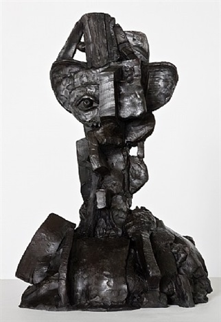 constructed head by george condo