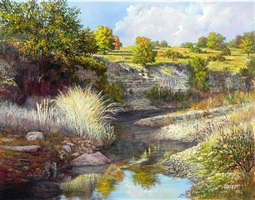 cibalo creek afternoon by lynwood bennett