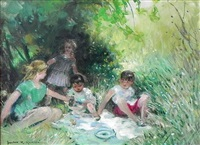 children's picnic by jules rené hervé