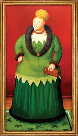 society lady by fernando botero
