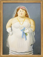 la novia by fernando botero