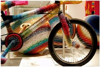 crochet bmx for agatha ruiz de la prada exhibition by alessandra roveda