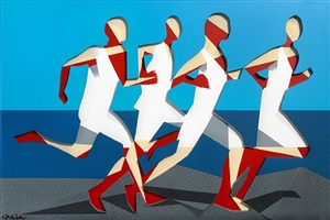 the runners (dimensional edition) by adam neate