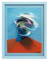 orange & blue dimensional portrait (dimensional edition) by adam neate