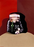 self portrait wine drinker (dimensional edition) by adam neate