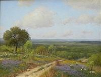 bluebonnet landscape by porfirio salinas