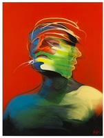 red portrait (movement) (dimensional edition) by adam neate