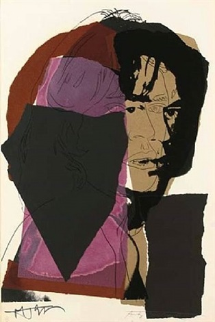 mick jagger (image #139) by andy warhol