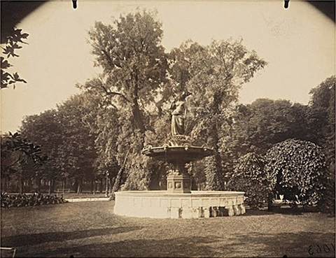 fontaine champs elysees by eugène atget