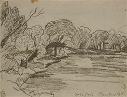 oaks pond (bloomfield) aug 25 by oscar florianus bluemner