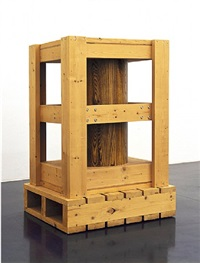 untitled (crate with cylinder) by richard artschwager