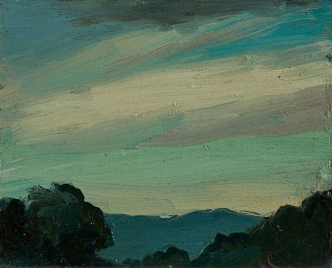 evening sky by robert henri