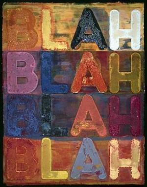 blah, blah, blah, by mel bochner