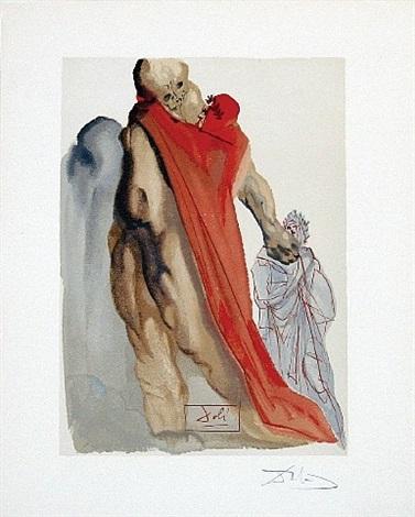 divine comedy purgatory canto 5 virigil's reproaches by salvador dalí