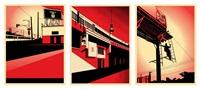 sd billboard (+ berlin tower, and bayshore billboard; 3 works) by shepard fairey