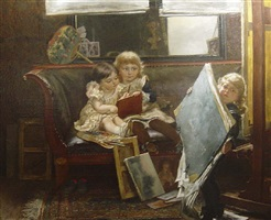 the mischievous little artists by edgard farasyn