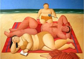 the beach by fernando botero