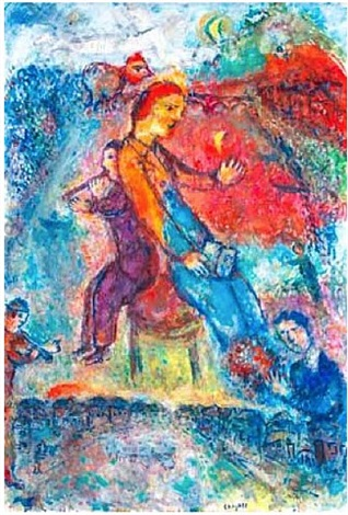 dos à dos by marc chagall