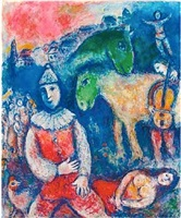deux ânes verts by marc chagall