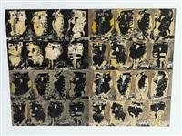 owl variations (yellow) by jack leonard shadbolt