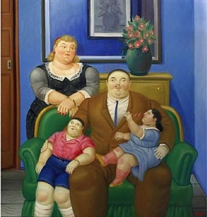 family by fernando botero