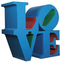 love (blue - red - green), 1966-2002 by robert indiana