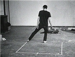 dance or exercise in the perimeter of a square by bruce nauman