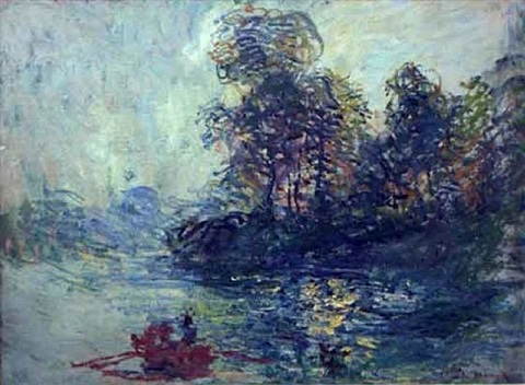 la riviere by claude monet