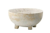 ceramic round footed bowl by paul philp