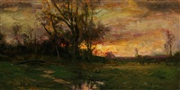 evening's last glimmer (sold) by dennis sheehan
