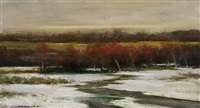late autumn snow (sold) by dennis sheehan